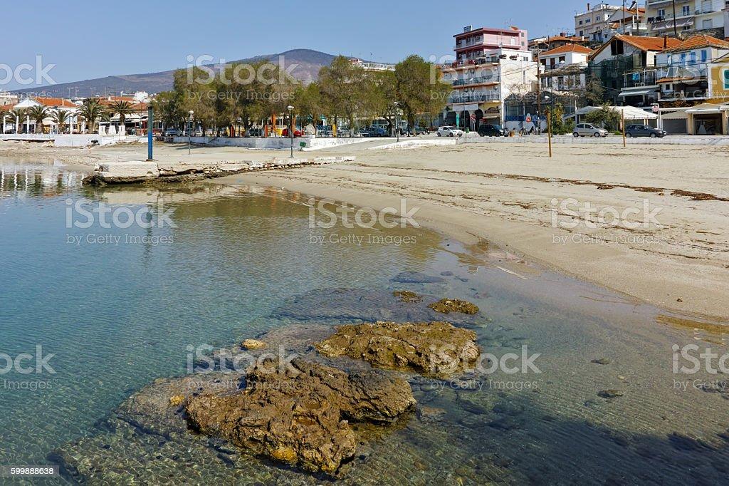 Beach of Limenaria, Thassos island, Greece stock photo