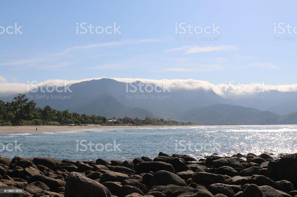 Beach of Maresias. stock photo