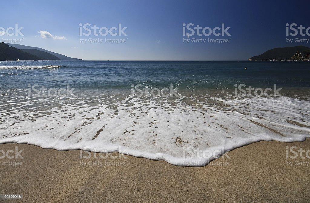 beach of Marina di Campo - Elba royalty-free stock photo