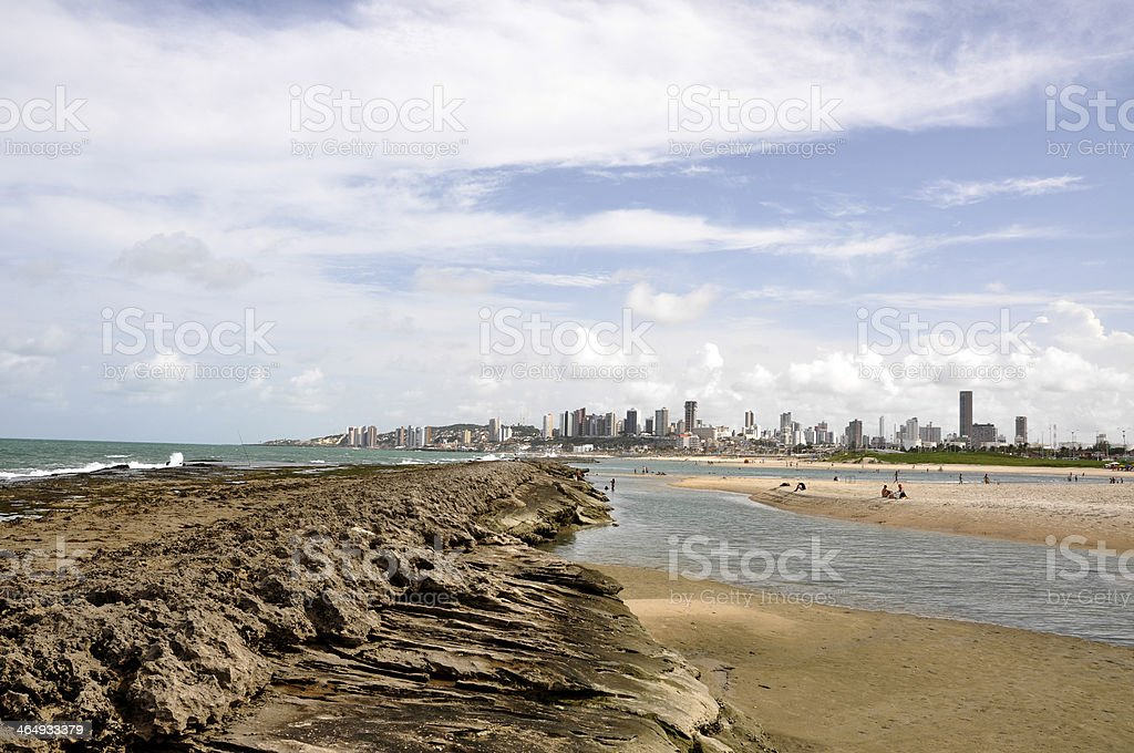 Beach of Natal, Rio Grande do Norte (Brazil) royalty-free stock photo