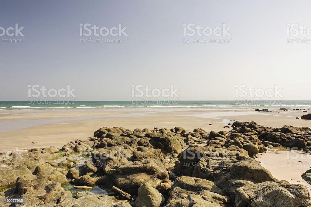Beach of Oman stock photo