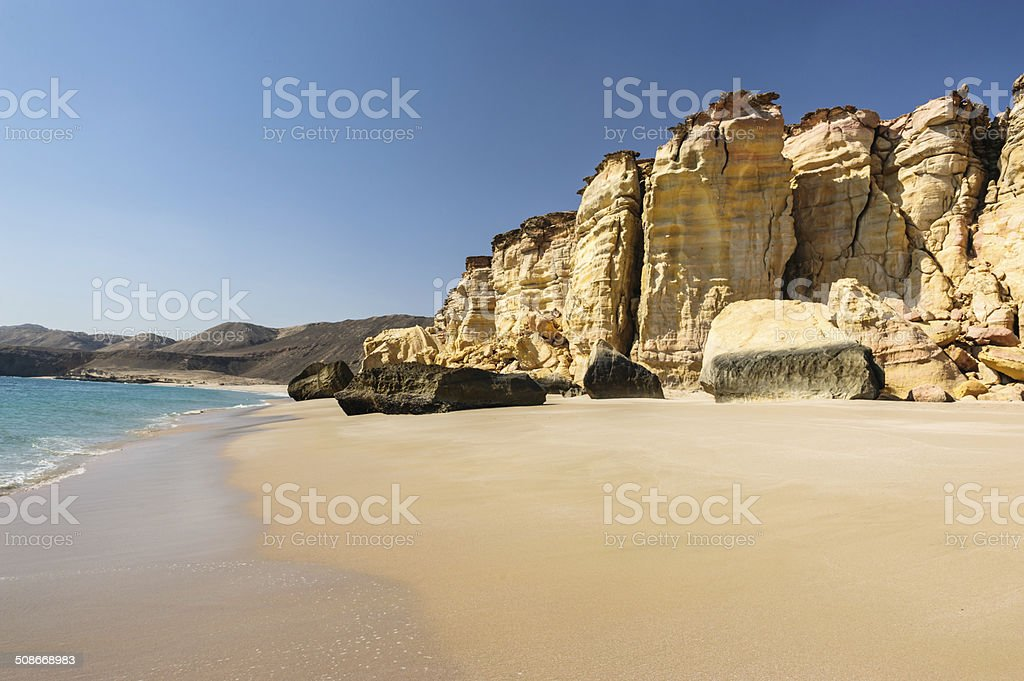 Beach of Oman stock photo