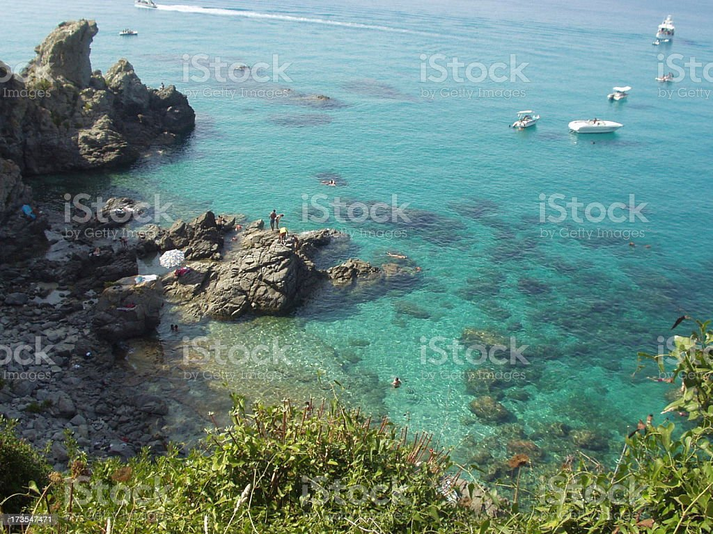 FT - Beach of paradise sub Zambrone Calabria (Italy) stock photo