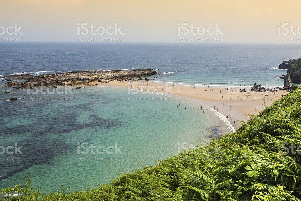 Beach of Pechon, Cantabria, Spain stock photo