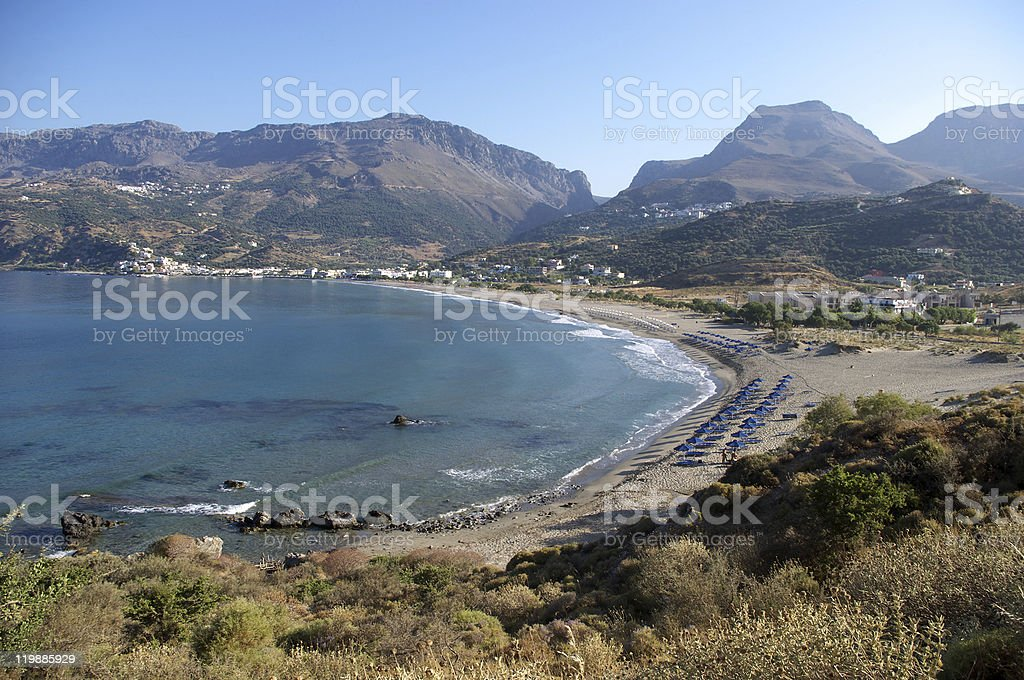 Beach of Plakias, Crete stock photo