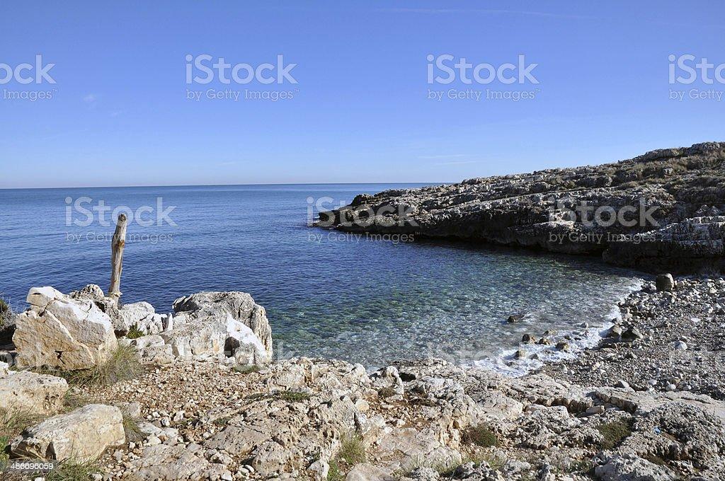 Beach of Polignano a Mare - Italy stock photo