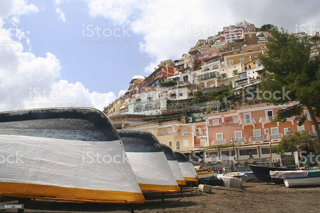 Beach of Positano royalty-free stock photo