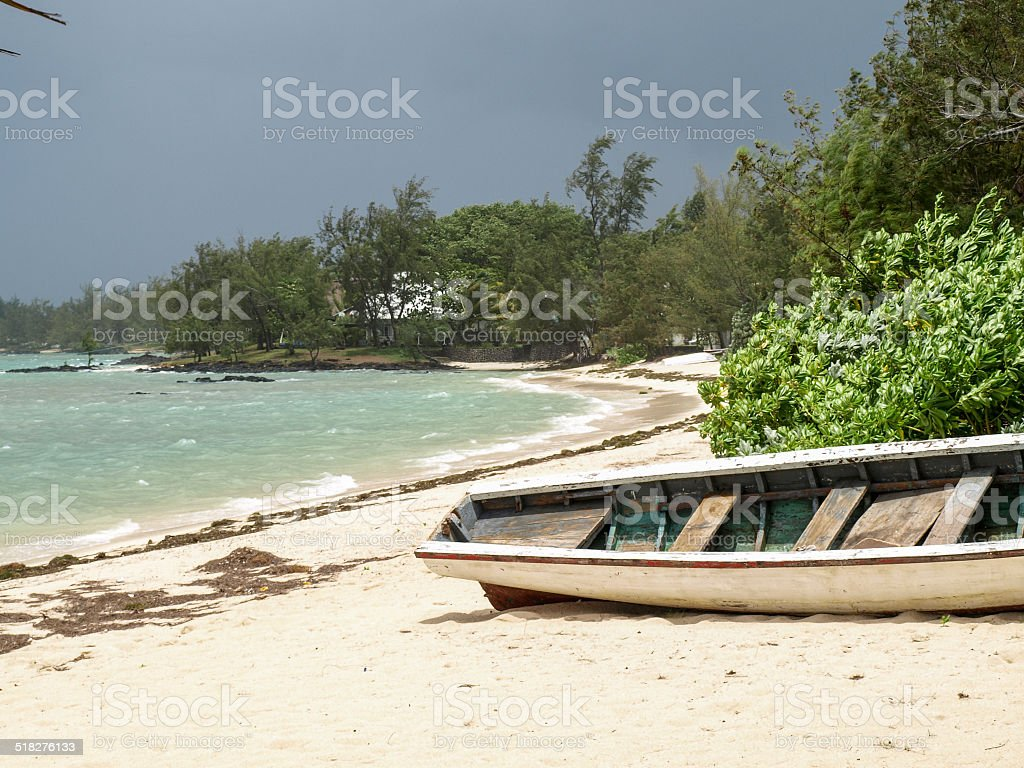 Beach of Roche Noir royalty-free stock photo