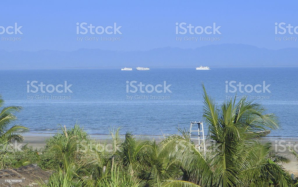 Beach of Saint Martins Island stock photo