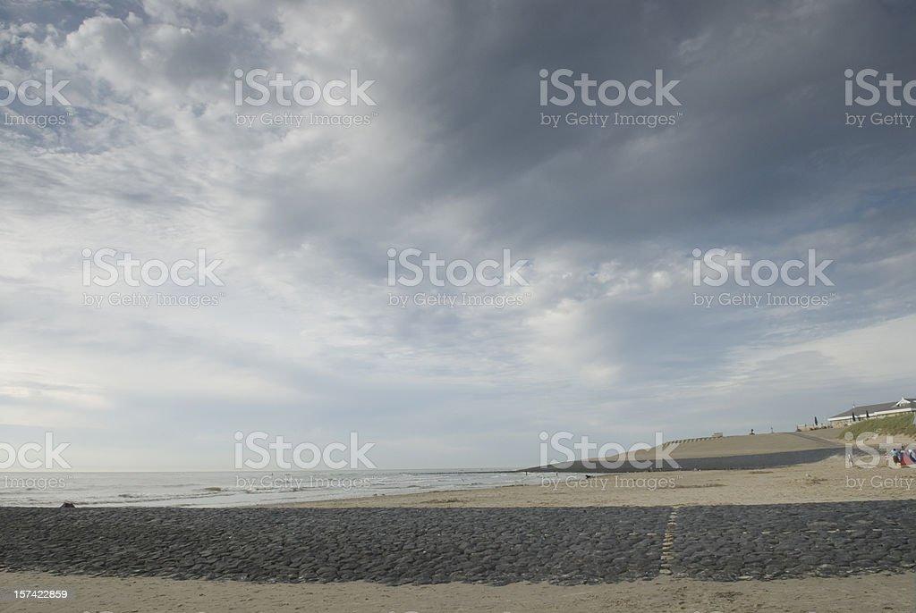Beach of Schoorl (Netherlands) stock photo
