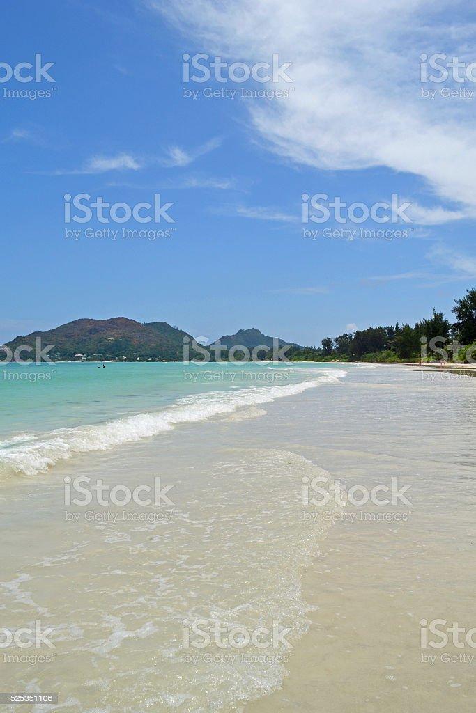 Beach of Seychelles stock photo
