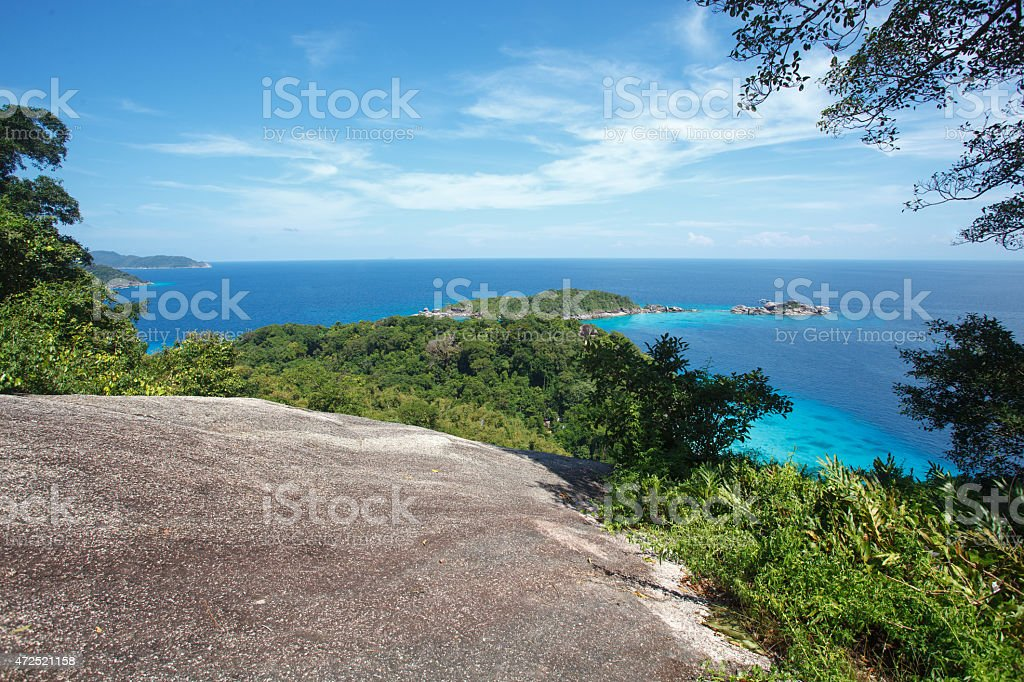 beach of Similan Koh Miang island in national park stock photo