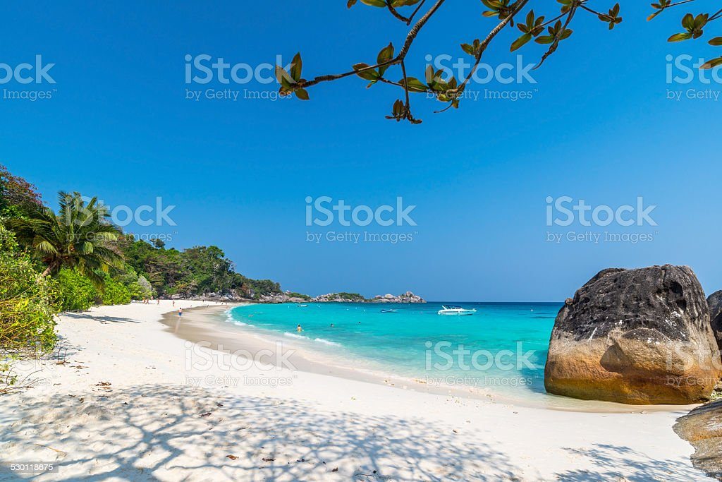 Beach of Similan Koh Miang Island in national park, Thailand stock photo