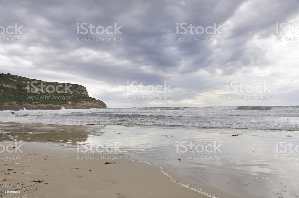 Beach of Son Bou royalty-free stock photo