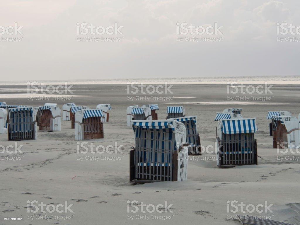 beach of spiekeroog stock photo