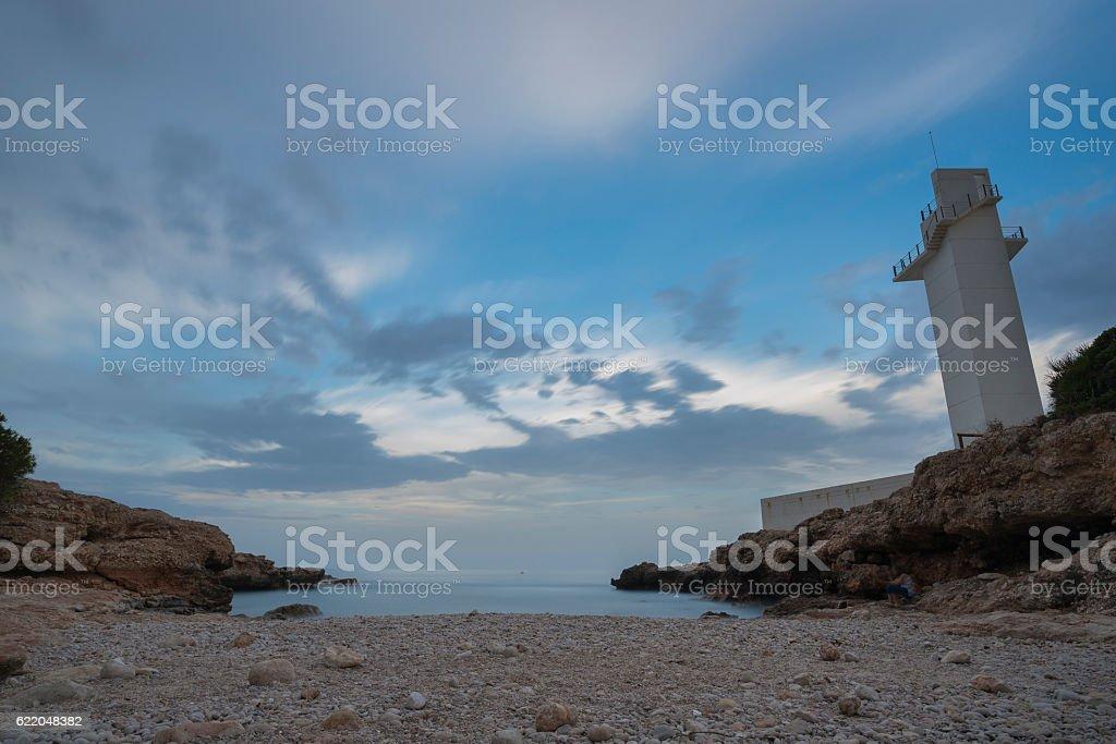 Beach of stones. stock photo