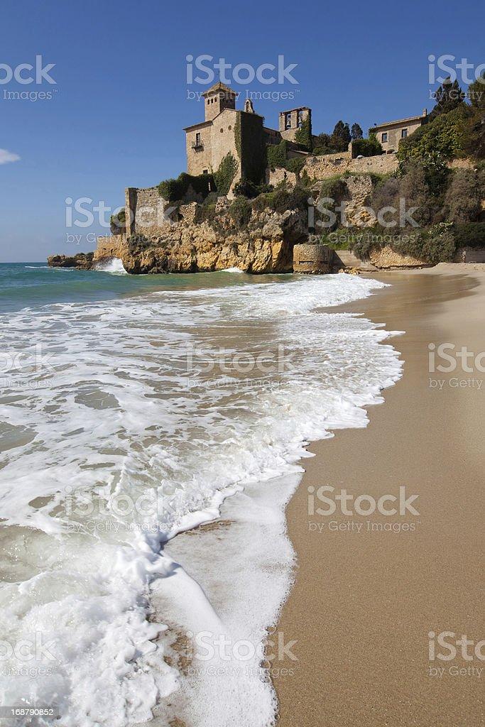 Beach of Tamarit stock photo
