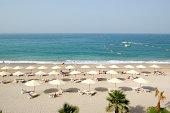 Beach of the luxury hotel, Fujairah, UAE