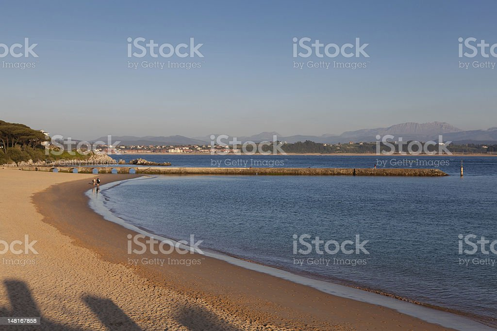 Beach of the Magdalena stock photo
