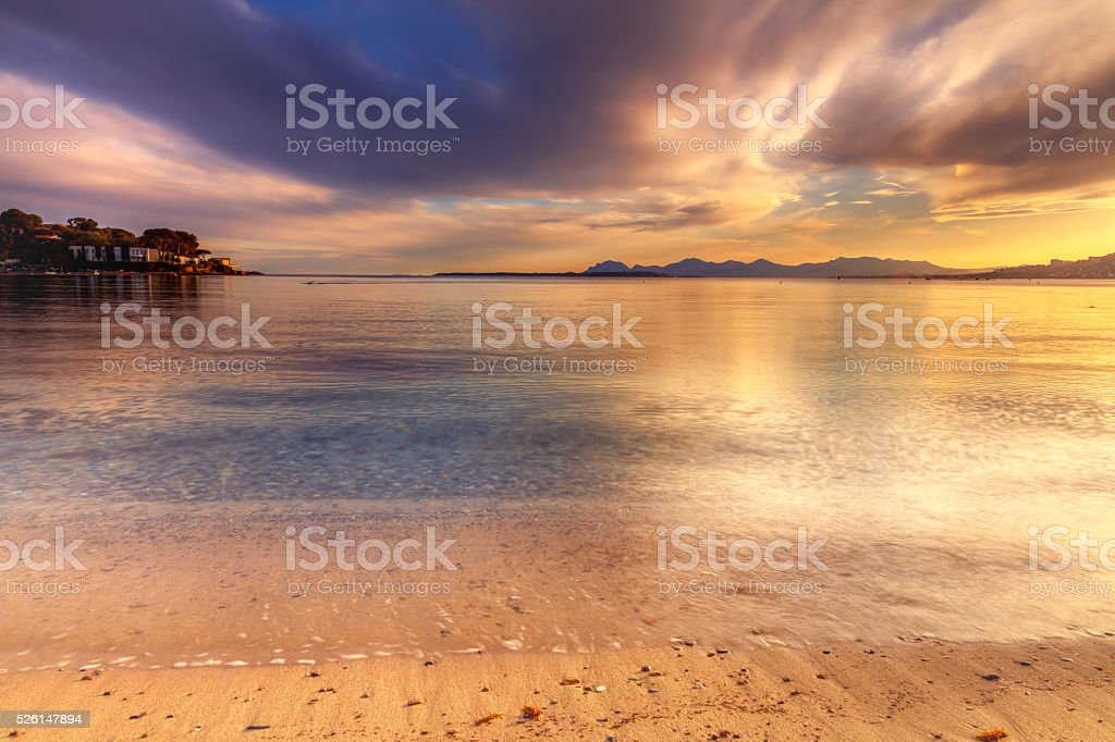 Beach of the Riviera: Cap d'Antibes stock photo