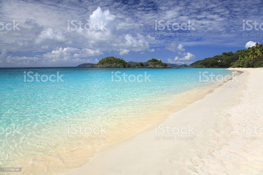 beach of Trunk Bay, St. John, US Virgin Islands stock photo