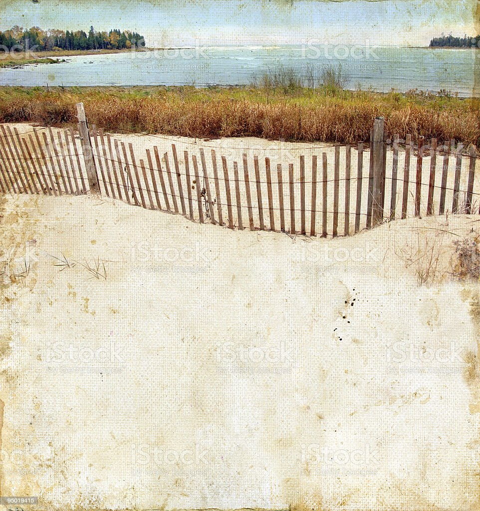 Beach on a Grunge Background royalty-free stock photo