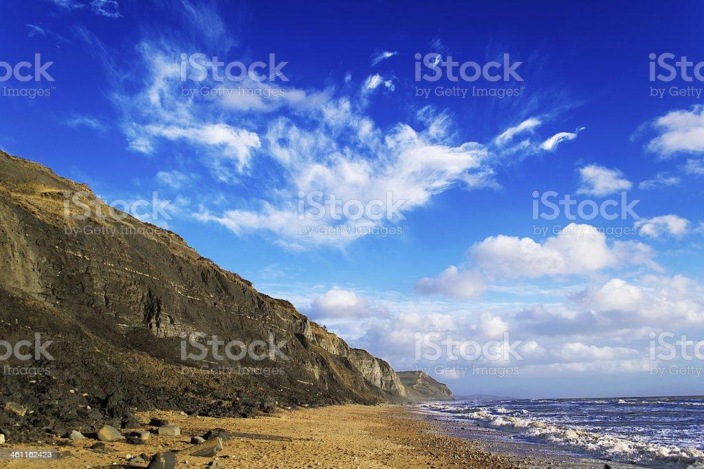 Beach on a sunny day stock photo