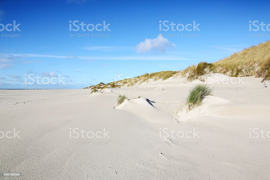 beach on Amrum, Germany stock photo