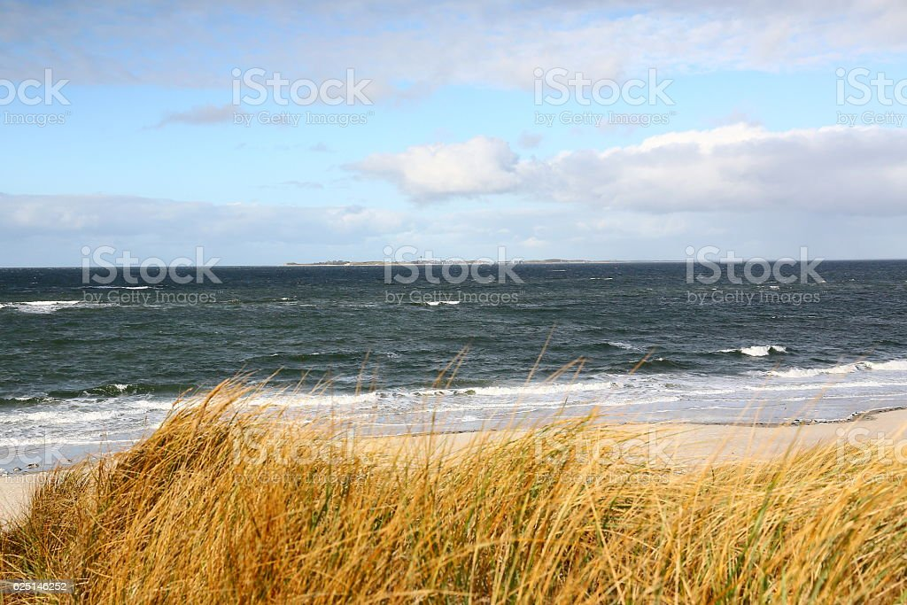 beach on Amrum stock photo