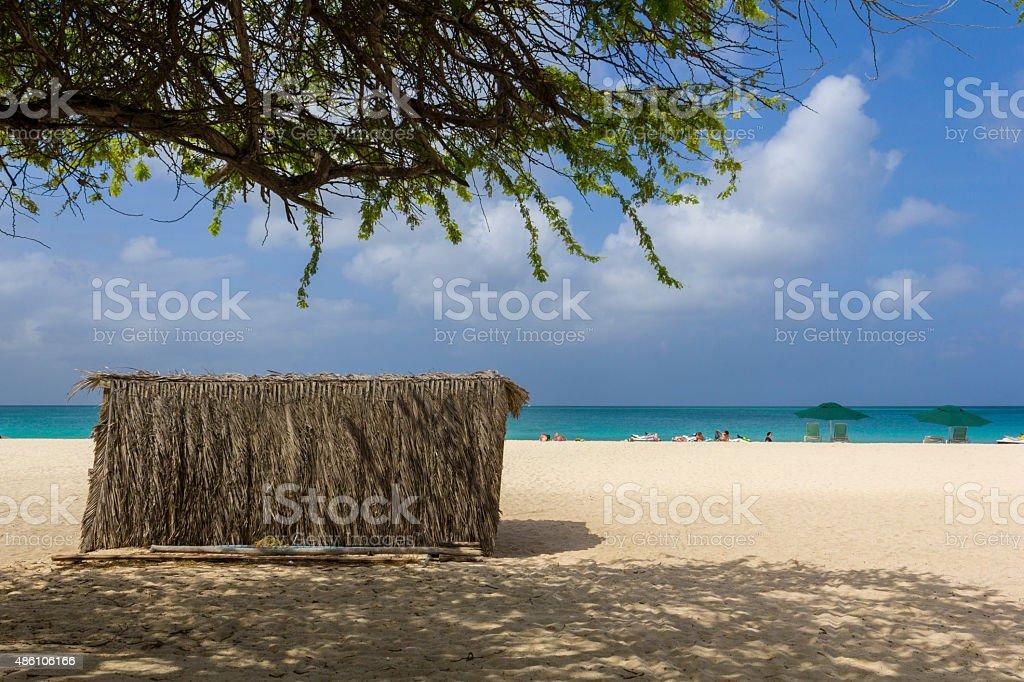Beach on Aruba stock photo