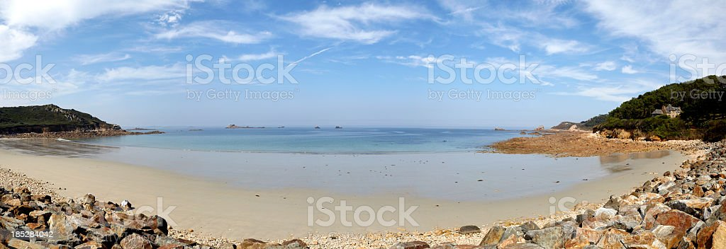 Beach on Cotes D'Armor, Brittany, France stock photo