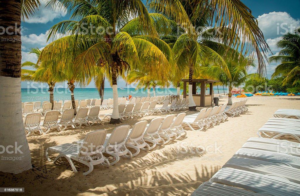 Beach on Cozumel Island, Mexico stock photo