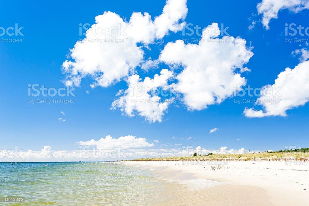 beach on Hel Peninsula royalty-free stock photo