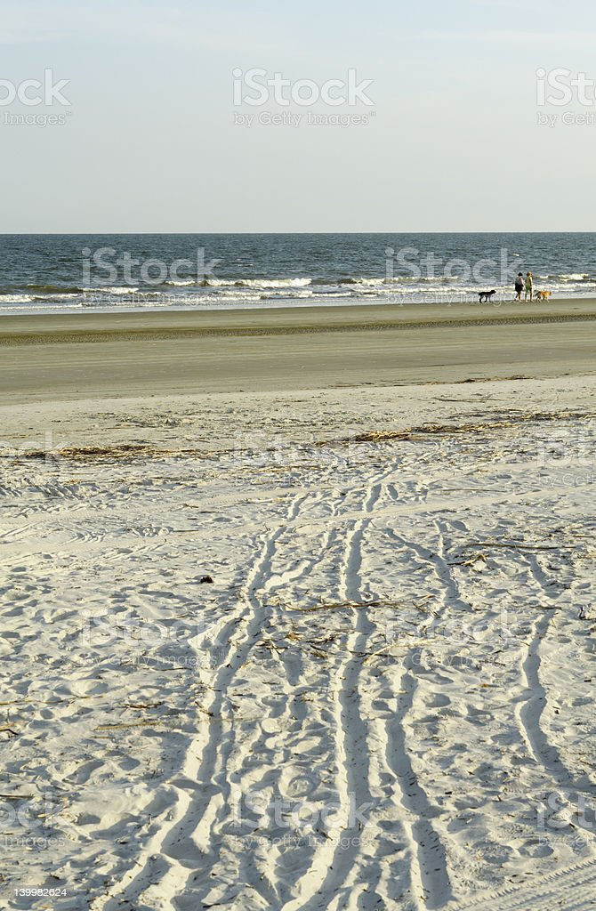 Beach on Hilton Head Island, in South Carolina royalty-free stock photo