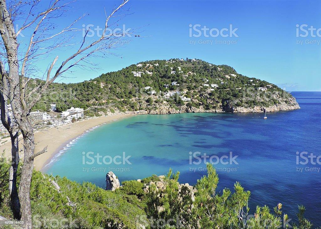 Beach on Ibiza stock photo