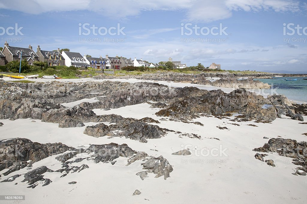 Beach on Iona royalty-free stock photo
