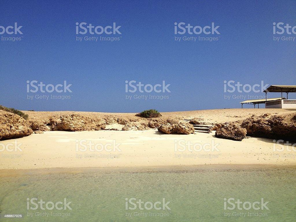 Beach on Maskali Island royalty-free stock photo