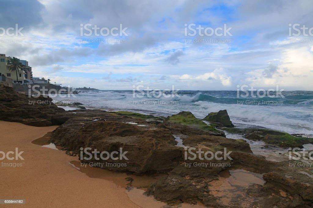 Beach on San Juan. stock photo