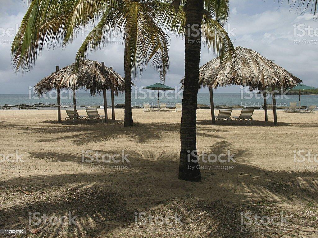 Beach on St Croix stock photo
