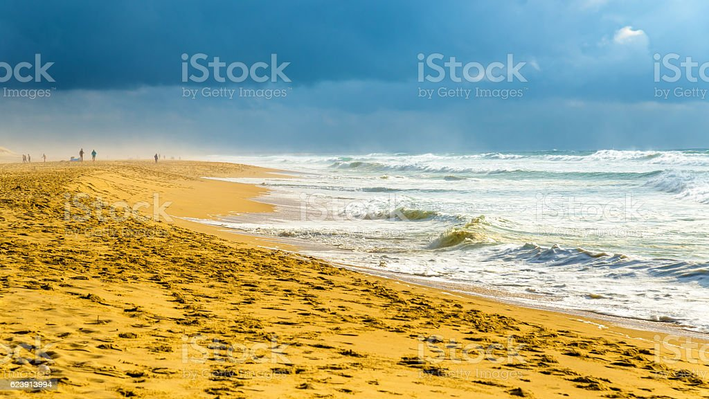 Beach on the Atlantic Ocean near Seignosse - France stock photo