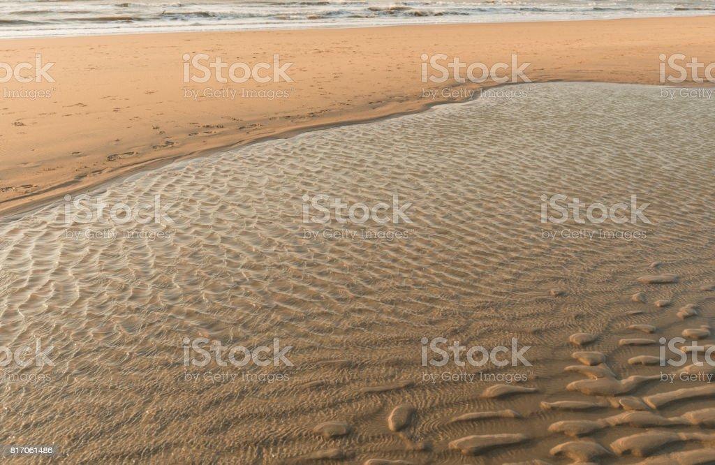 Beach on the evening stock photo