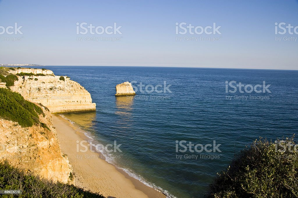 Beach on the Portugese coast royalty-free stock photo