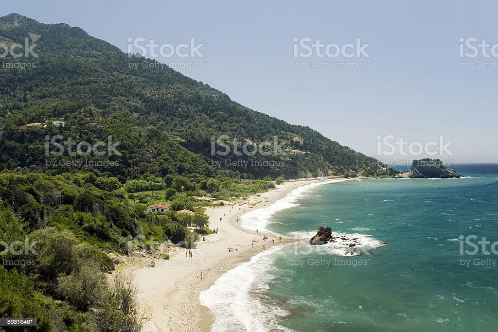 Beach on the Samos island, Greece royalty-free stock photo