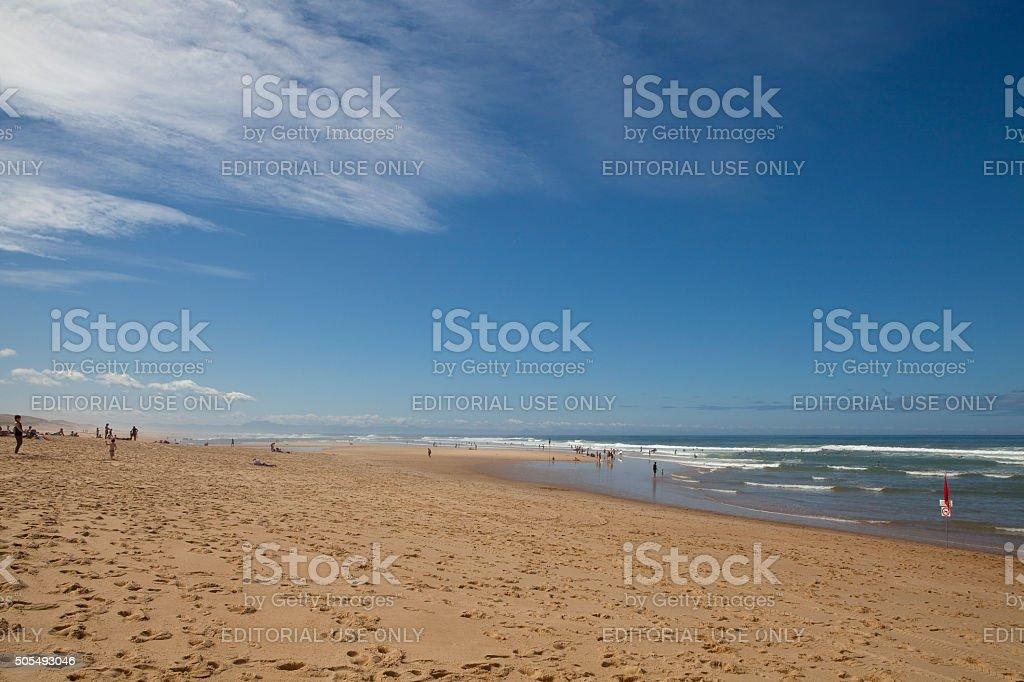 Beach on the Silver Coast of France. stock photo