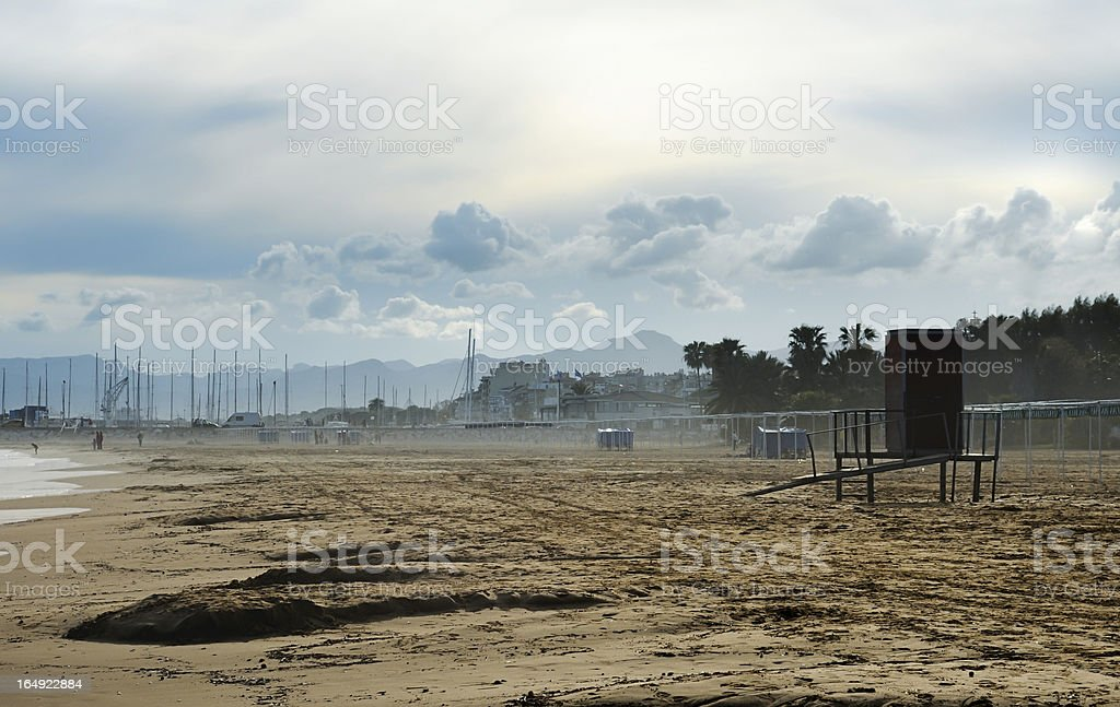Beach out of season royalty-free stock photo