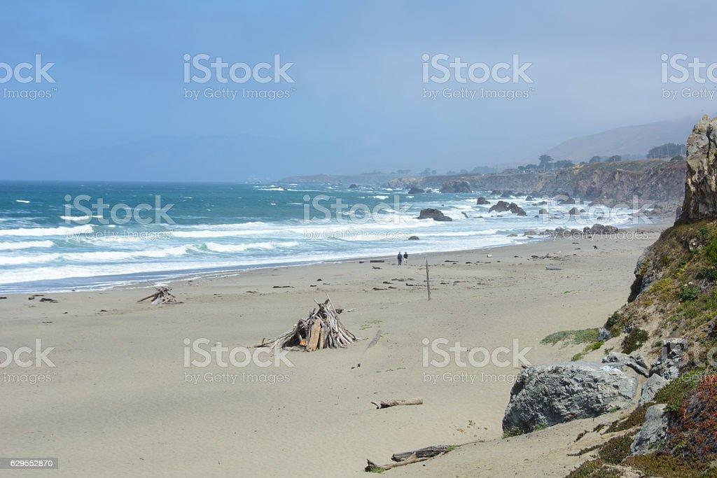 Beach Pacific Ocean Northern California, USA stock photo