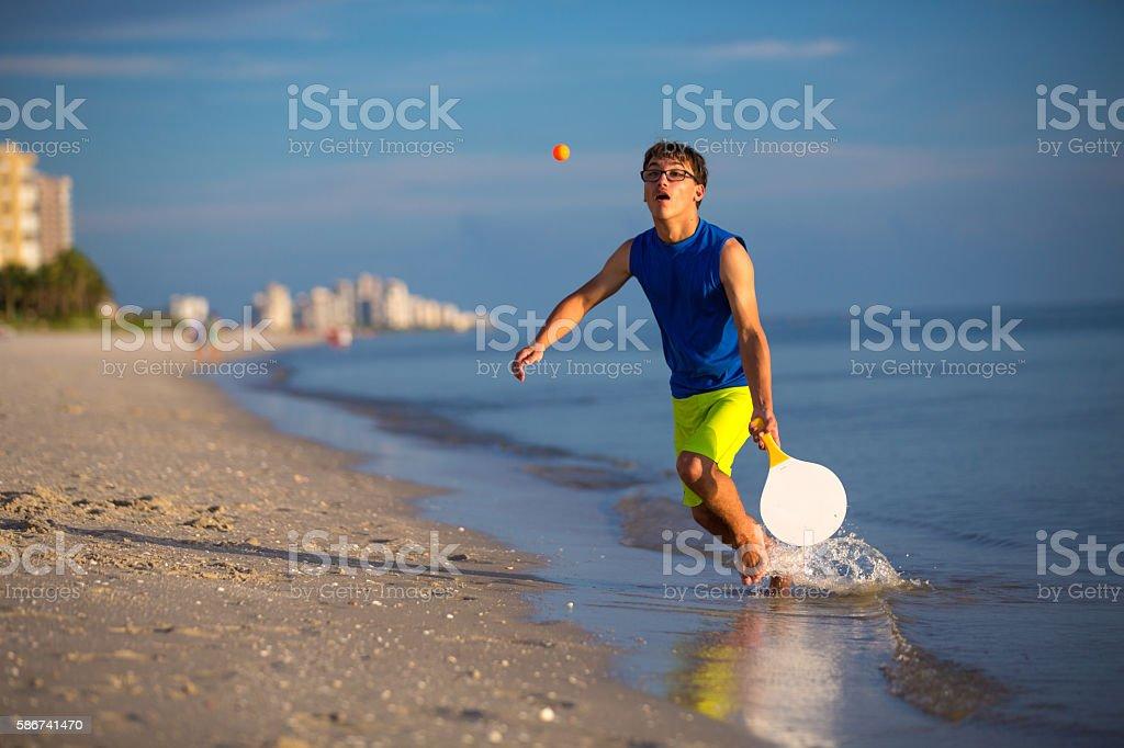 Beach paddle ball stock photo