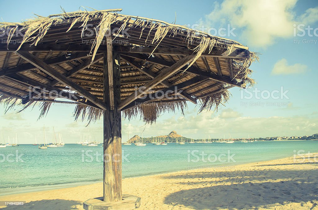 beach palapa royalty-free stock photo