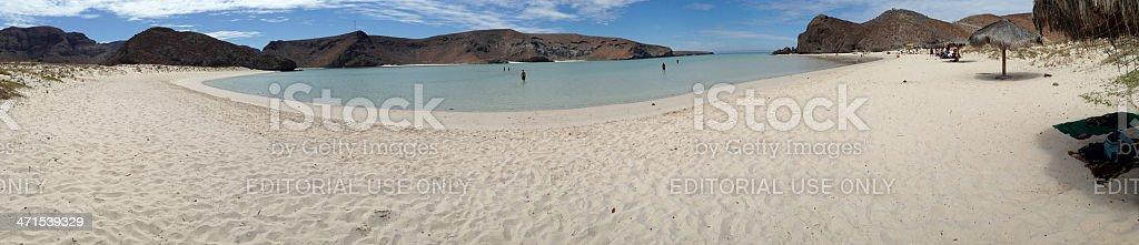 Beach Panoramic royalty-free stock photo