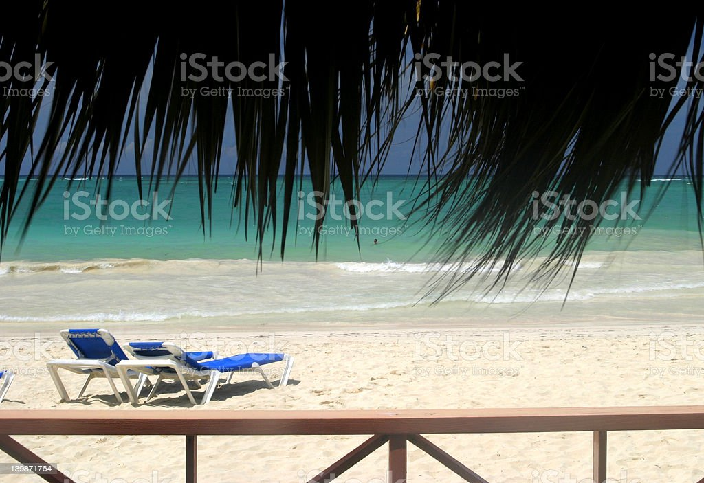 beach paradise stock photo